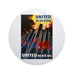 United We Win Ornament (Round)