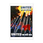 United We Win Mini Poster Print