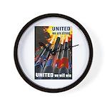 United We Win Wall Clock