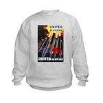 United We Win (Front) Kids Sweatshirt