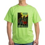 United We Win (Front) Green T-Shirt