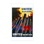 United We Win Rectangle Sticker