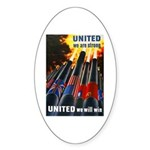 United We Win Oval Sticker