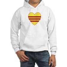 Republic of South Vietnam Flag Heart Hoodie