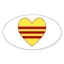 Republic of South Vietnam Flag Heart Decal
