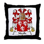 Nicolle Family Crest Throw Pillow
