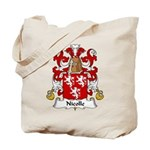 Nicolle Family Crest Tote Bag