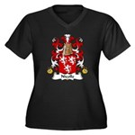 Nicolle Family Crest Women's Plus Size V-Neck Dark