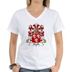Nicolle Family Crest Women's V-Neck T-Shirt