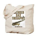Licensed Sax Therapist Tote Bag