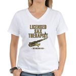 Licensed Sax Therapist Women's V-Neck T-Shirt