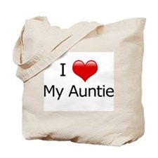 I Love My Auntie Tote Bag