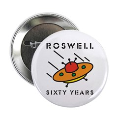 "The 1947 Roswell UFO incident 2.25"" Button (10 pac"