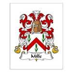 Mille Family Crest Small Poster