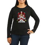 Mille Family Crest Women's Long Sleeve Dark T-Shir
