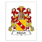 Marcel Family Crest Small Poster