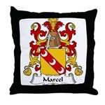 Marcel Family Crest Throw Pillow