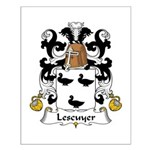 Lescuyer Family Crest Small Poster