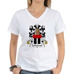 Lefrancois Family Crest  Women's V-Neck T-Shirt