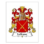 Lefranc Family Crest Small Poster