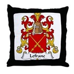 Lefranc Family Crest Throw Pillow