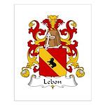 Lebon Family Crest  Small Poster