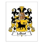 LeBeuf Family Crest  Small Poster