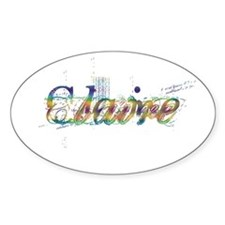 Claire Oval Decal
