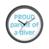 Proud parent of a Diver Wall Clock