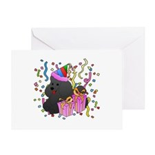 Poodle Party Greeting Card