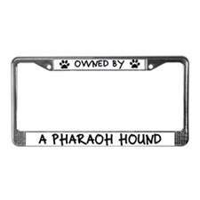 Owned by a Pharaoh Hound License Plate Frame