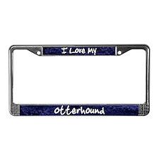 Funky Love OtterhoundLicense Plate Frame