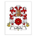 Lafleche Family Crest Small Poster