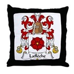 Lafleche Family Crest Throw Pillow