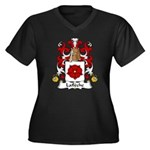Lafleche Family Crest Women's Plus Size V-Neck Dar