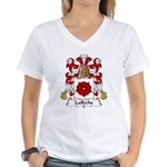 Lafleche Family Crest Women's V-Neck T-Shirt