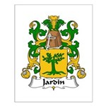 Jardin Family Crest Small Poster