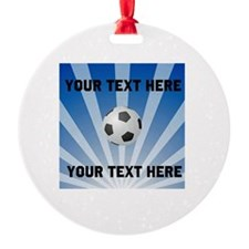 Personalized Soccer Round Ornament