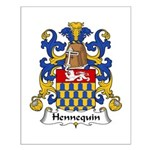 Hennequin Family Crest Small Poster