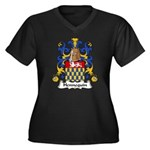 Hennequin Family Crest Women's Plus Size V-Neck Da