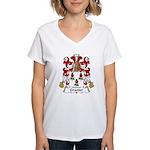 Granier Family Crest Women's V-Neck T-Shirt