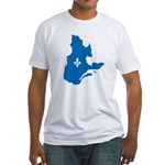Map with Official Color Fitted T-Shirt