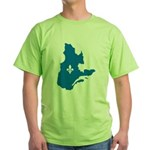 Map with Official Color Green T-Shirt