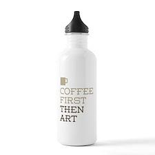 Coffee Then Art Water Bottle