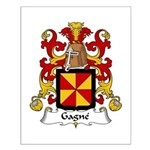 Gagne Family Crest Small Poster