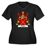 Franc Family Crest  Women's Plus Size V-Neck Dark