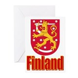 "Pkg of 10-""5x7"" Finland COA Greeting Cards"