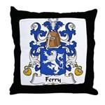 Ferry Family Crest Throw Pillow