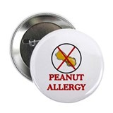 "NO PEANUTS Peanut Allergy 2.25"" Button (10 pack)"