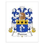 Dumas Family Crest Small Poster